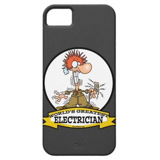 WORLDS GREATEST ELECTRICIAN MEN CARTOON iPhone 5 COVER