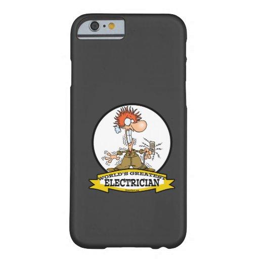 WORLDS GREATEST ELECTRICIAN MEN CARTOON iPhone 6 CASE