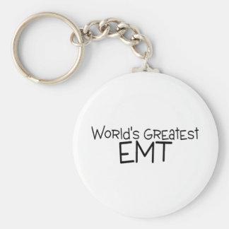 Worlds Greatest EMT Basic Round Button Key Ring