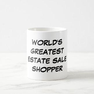"""World's Greatest Estate Sale Shopper"" Mug"