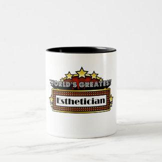 World's Greatest Esthetician Two-Tone Mug
