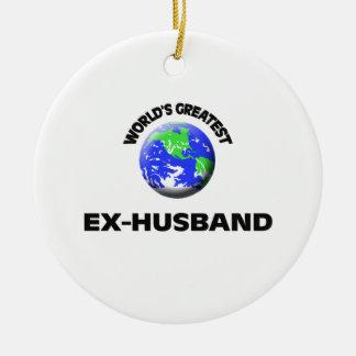World's Greatest Ex-Husband Round Ceramic Decoration