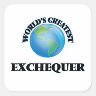 World's Greatest Exchequer Square Sticker