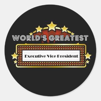World's Greatest Executive Vice President Classic Round Sticker