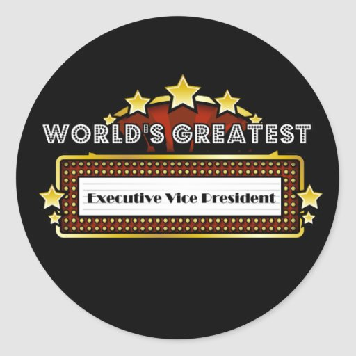 World's Greatest Executive Vice President Round Sticker