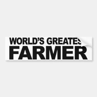 World's Greatest Farmer Bumper Sticker