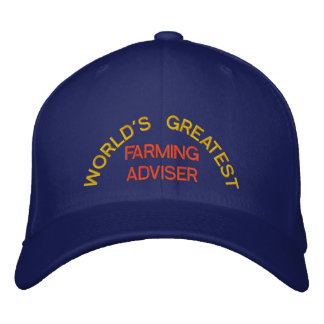WORLD'S GREATEST, FARMING ADVISER EMBROIDERED HAT