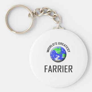 World's Greatest Farrier Basic Round Button Key Ring
