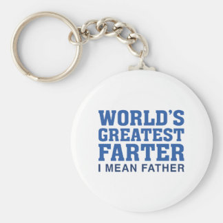 World's Greatest Farter Basic Round Button Key Ring