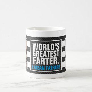 World's Greatest Farter. I mean Father! Basic White Mug