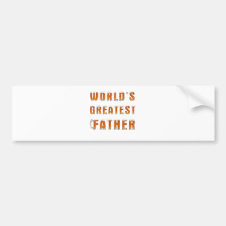 World's Greatest Father 2 Bumper Stickers