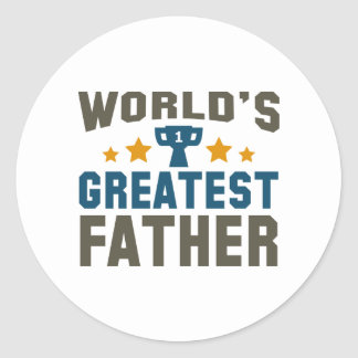 World's Greatest Father Classic Round Sticker