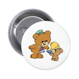 worlds greatest father cute teddy bears design 6 cm round badge