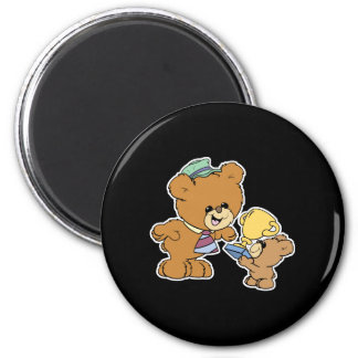 worlds greatest father cute teddy bears design 6 cm round magnet