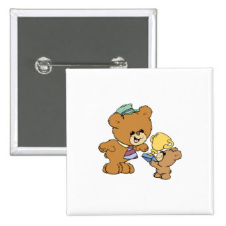 worlds greatest father cute teddy bears design 15 cm square badge
