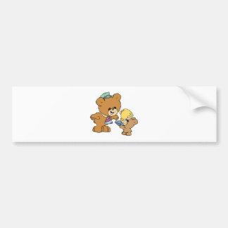 worlds greatest father cute teddy bears design bumper stickers