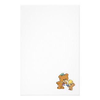 worlds greatest father cute teddy bears design customized stationery