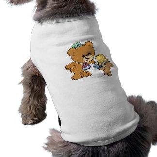 worlds greatest father cute teddy bears design sleeveless dog shirt