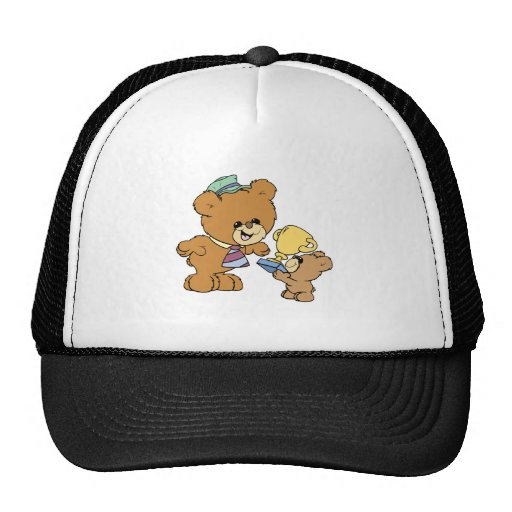 worlds greatest father cute teddy bears design hats