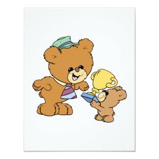 worlds greatest father cute teddy bears design 11 cm x 14 cm invitation card