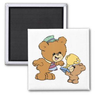 worlds greatest father cute teddy bears design square magnet