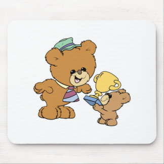 worlds greatest father cute teddy bears design mouse pad