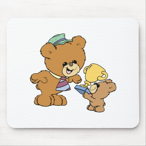 worlds greatest father cute teddy bears design mousepad