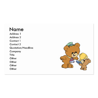 worlds greatest father cute teddy bears design pack of standard business cards