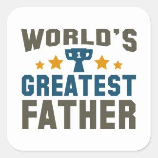 World's Greatest Father Square Sticker