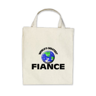 World's Greatest Fiance Canvas Bags