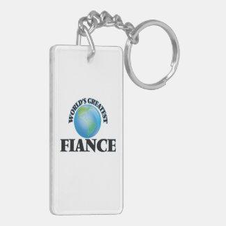 World's Greatest Fiance Rectangle Acrylic Keychains