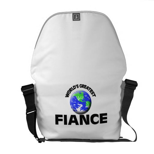 World's Greatest Fiance Courier Bag
