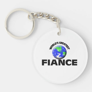 World's Greatest Fiance Single-Sided Round Acrylic Key Ring