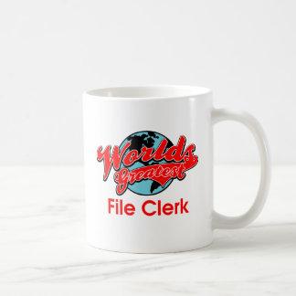 World's Greatest File Clerk Coffee Mug