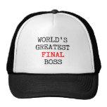 World's Greatest Final Boss Cap