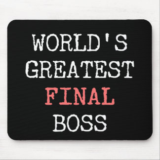 World's Greatest Final Boss Mouse Pad