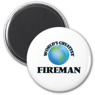 World's Greatest Fireman 6 Cm Round Magnet