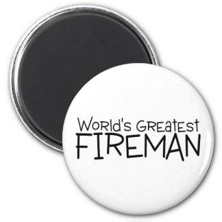 Worlds Greatest Fireman Magnet