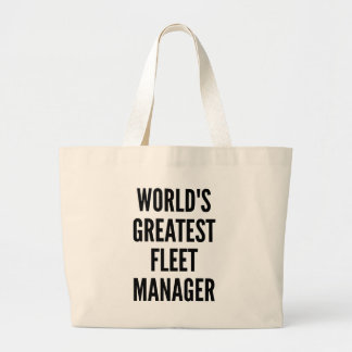 Worlds Greatest Fleet Manager Jumbo Tote Bag
