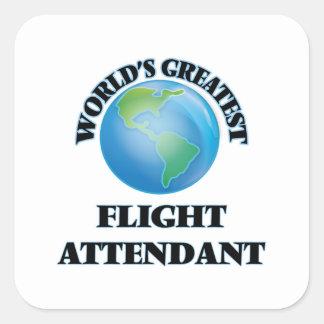 World's Greatest Flight Attendant Square Sticker