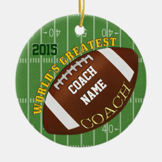 World's Greatest Football Coach Gifts, Ornament
