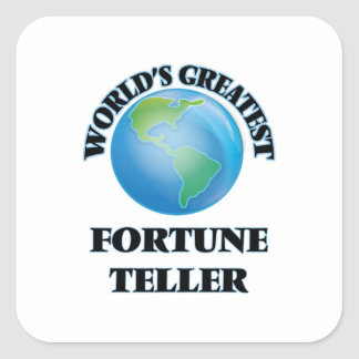 World's Greatest Fortune Teller Square Sticker