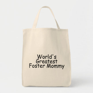 Worlds Greatest Foster Mommy Black Bag