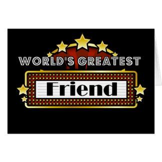 World's Greatest Friend Greeting Card