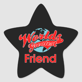 World's Greatest Friend Star Sticker