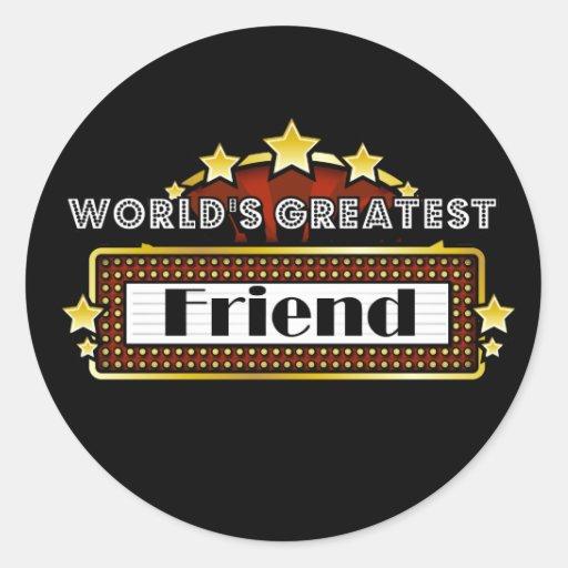 World's Greatest Friend Round Sticker
