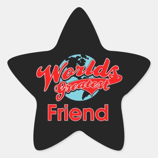 World's Greatest Friend Star Stickers