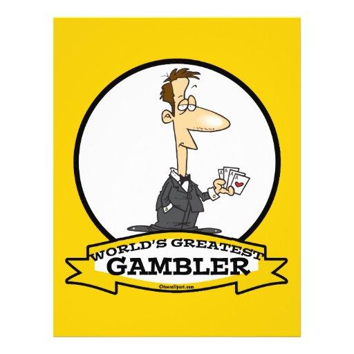 WORLDS GREATEST GAMBLER MEN CARTOON FULL COLOR FLYER