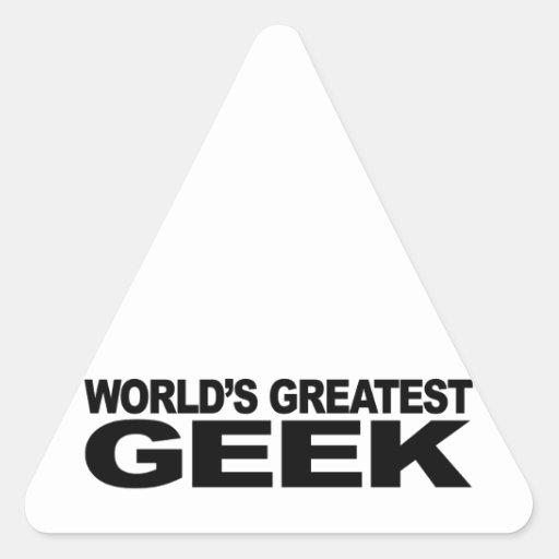 World's Greatest Geek Triangle Stickers