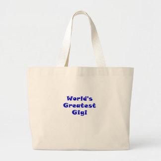 Worlds Greatest Gigi Large Tote Bag